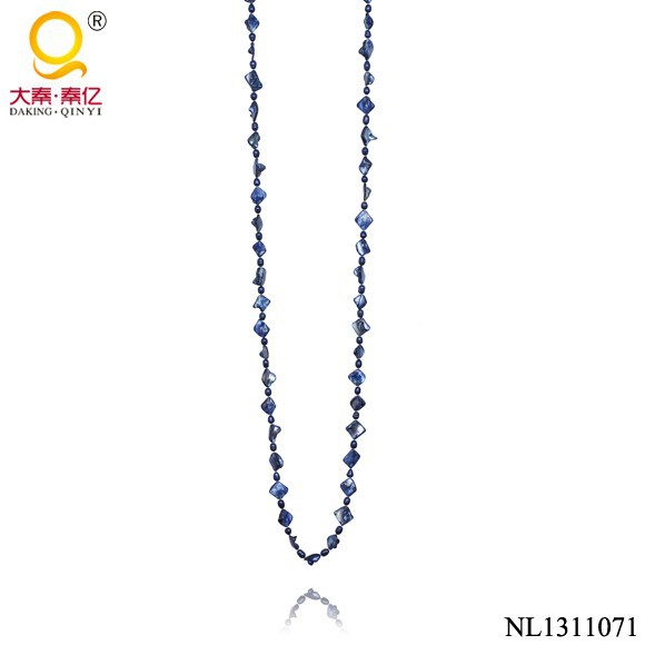 nugget shell blue real pearl necklace price