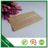 Offset printing brown paper Sandwich bag with window