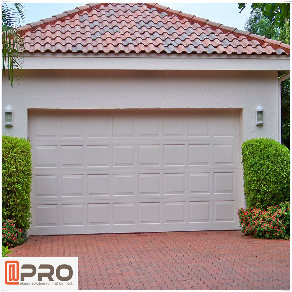 aluminium garage door with fireproof manual and electric opening style