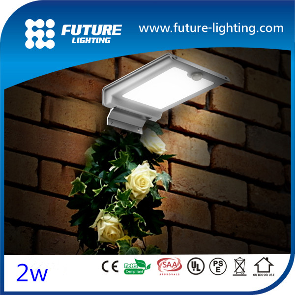 2016 hot selling Outdoor IP65 solar power motion sensor wall mounted outdoor led light