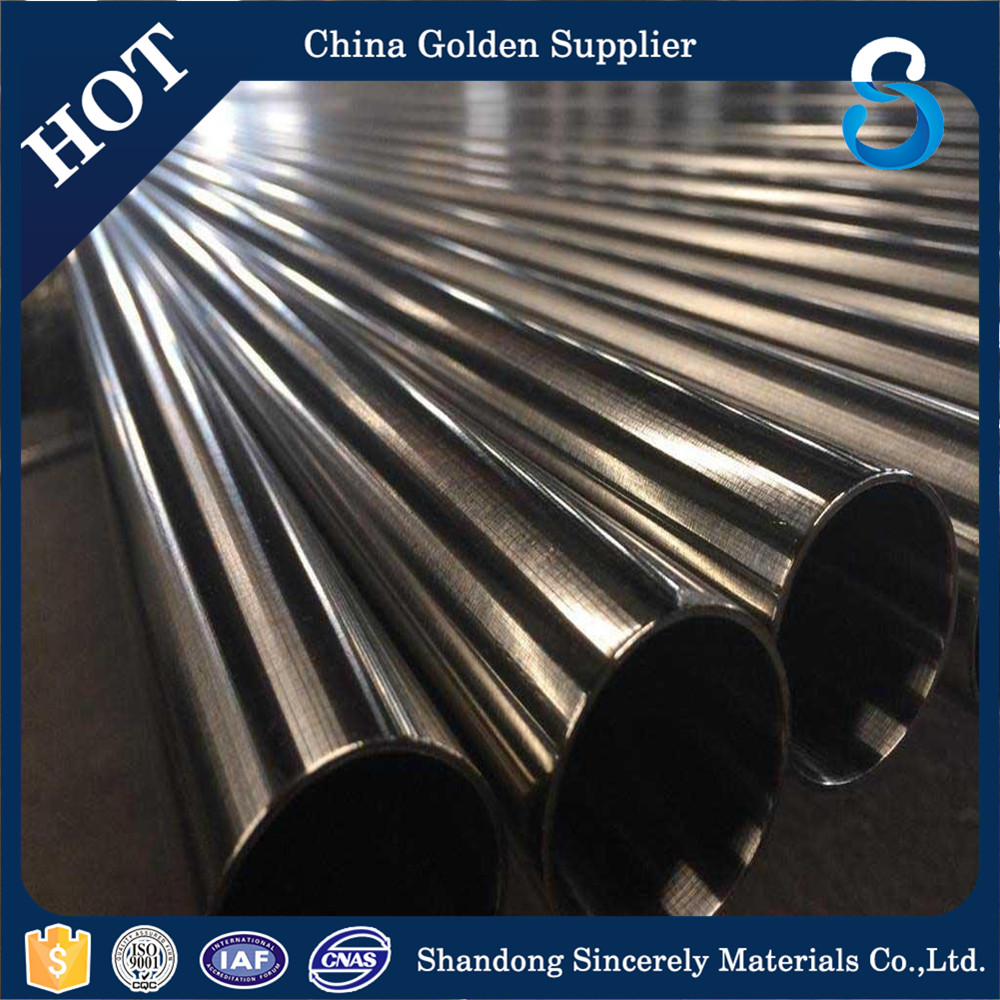 Best quality promotional nickel alloy 825 stainless steel pipe weight gold supplier