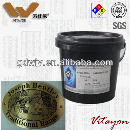 Foxconn qualified supplier Vitayon Chemical: Photosensitive anti etching ink for metal by screen printing or spray