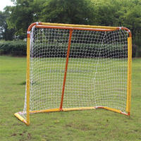 Hockey goal with net with shooting target