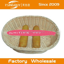 2015 hot selling artisan 100% woven plastic washable rattan storage basket boxes factory wholesale