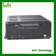 Iwill X8 new arrival embedded car pc case/aluminum mini itx car pc case