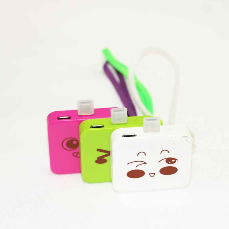 High quality 2 in1 double side connector OEM 800mah mini power bank disposable with condom