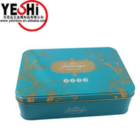 Sales Promotion Rectangle packing food tin box for cookie