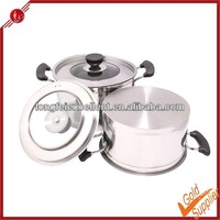 2014 new hot product magnetic stainless steel stock/soup pot with capsuled bottom