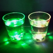 lighted up shot glass flashing led shot cup
