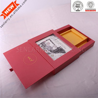 Fashionable Delicate Recyclable chinese tea in red box wholesale design certificated by ISO BV SGS,ex factory price!
