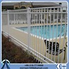 Hot-dip galvanized harsh climate white powder coated wrought iron fence design