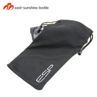 Multi-functional soft microfiber sunglass pouch with logo print