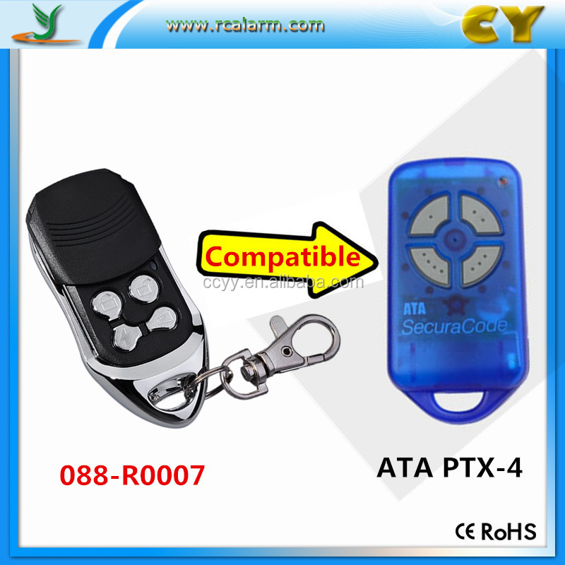 ATA PTX-4 Blue/Pink garage gate remote control, 433.92MHZ transmitter CY-088