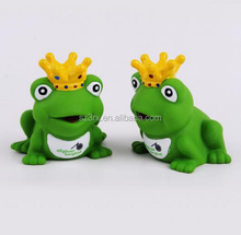 make your own novelty design custom small soft frog prince green vinyl toy for kids in factory price