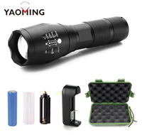 Outlite A100 G700 Ultra Bright XML T6 1000 Lumens 5 Modes Adjustable Focus Long Range LED Tactical Flashlight