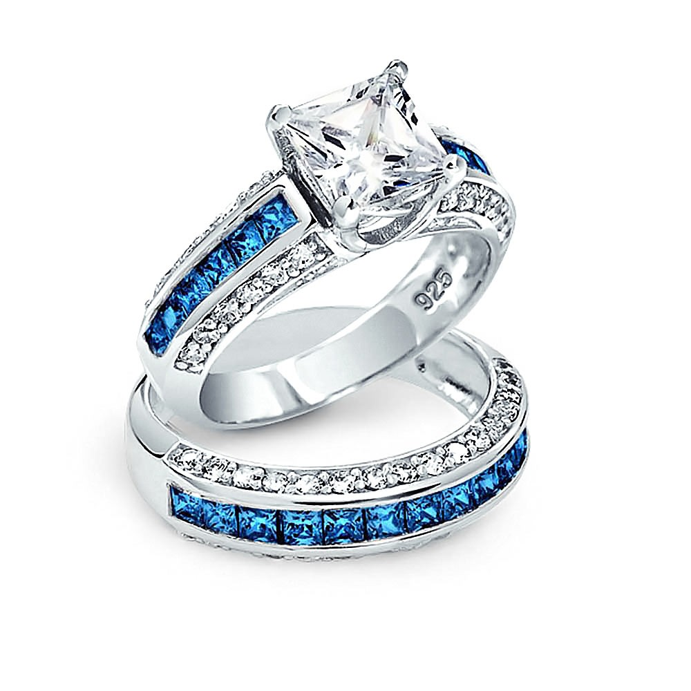 Latest wedding rings of 925 silver with AAA zircon diamond