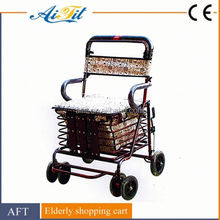 Factory directly selling shopping trolley Four wheel shopping trolley bag Folding shopping laundry trolley cart