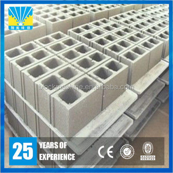 Automatic concrete cement size of hollow block in the philippines