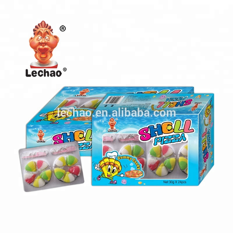 Shell Pizza Sweets Gummy Candy halal funny shape jelly candy toys