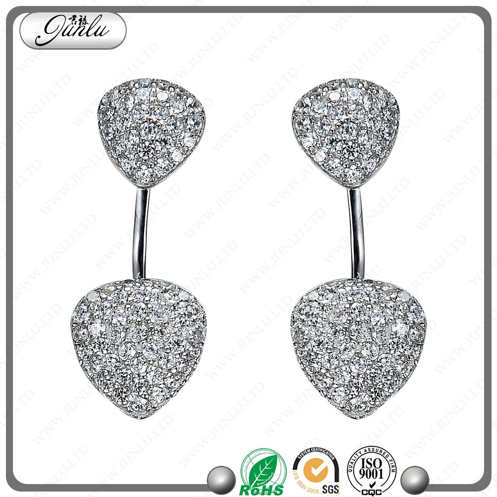 jewellery import from china the superstar accessories earrings with triangle earrings cubic zirconia earrings
