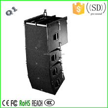 long distance projection show audio line array Q1 sound system speaker box