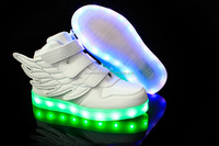 6 color Children shoes with light sneakers led light up kids shoes toddler Boy LED Flashing girls shoes wings