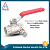 brass ball valve of y-pattern manifold iron handle with long alum PN 40 high quality PPR new bonnet PTFE seated DN25 mini new