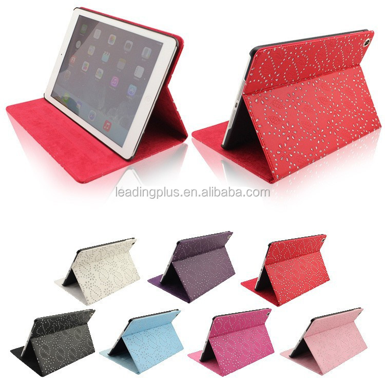 Diamond Bling Sparkly PU Leather Flip Case for iPad Air