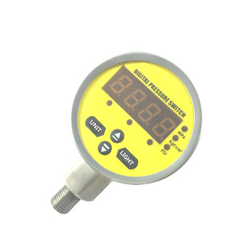 Anti-interference 0.5% FS digital contact pressure switch gauge