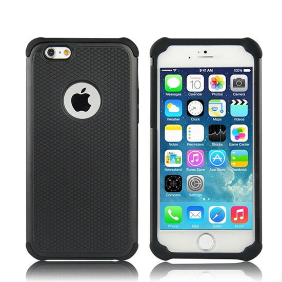 Factory Direct Phone Case Two in One Case for iPhone 6 with PC and Silicone Cell Phone Case