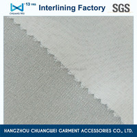 100% Polyester fusible Plain Woven interlining for garment