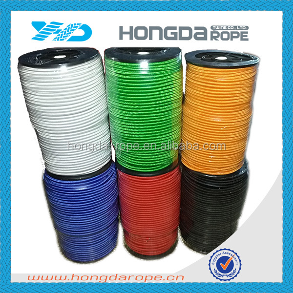 8mm bungee cord orange color polyester elastic rubber rope