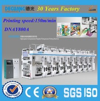 DNAY800A second hand latest pvc shrink film label printing machine