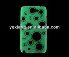 Polka dot design glow in the dark case for Samsung Note 2 N7100 case
