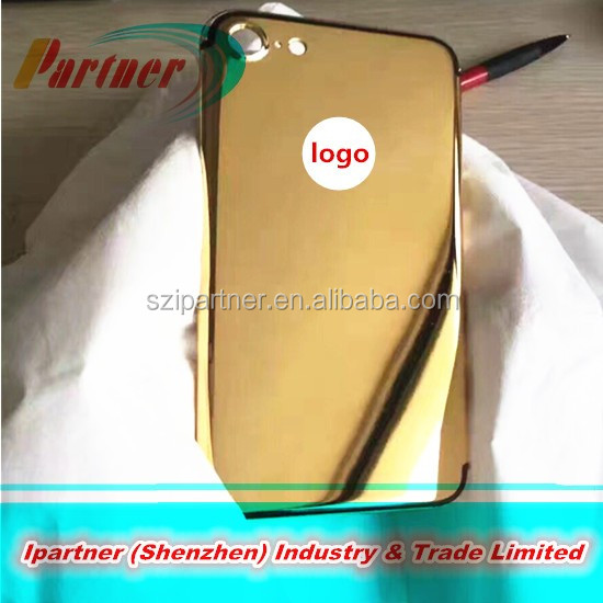 24K plating mirror surface back housing for iphone7 / 7 plus