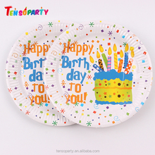 Kids party supplies custom pizza / birthday /Tableware Disposable Wholesale Dinner Paper Plate