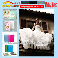 Perspex cover flush mount album for wedding photo album