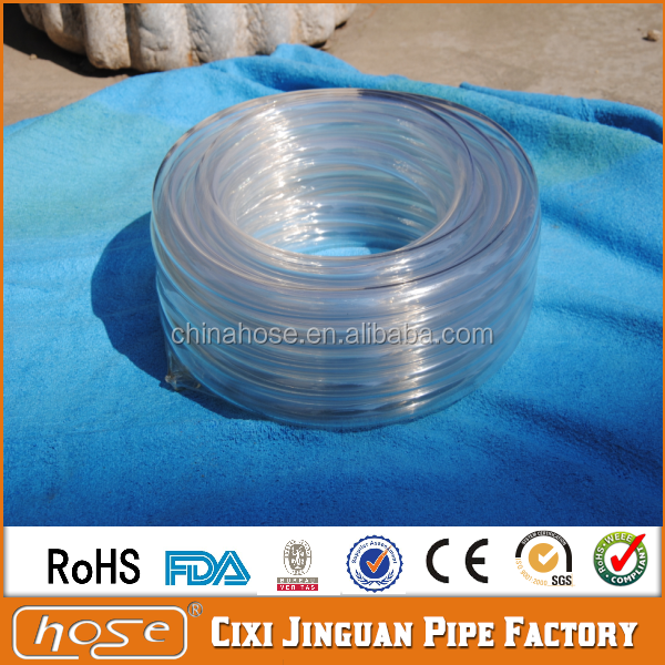 JG Clear PVC Plastic Tube Vinyl Tubing,Flexible Water Discharge Hose PVC Pipe