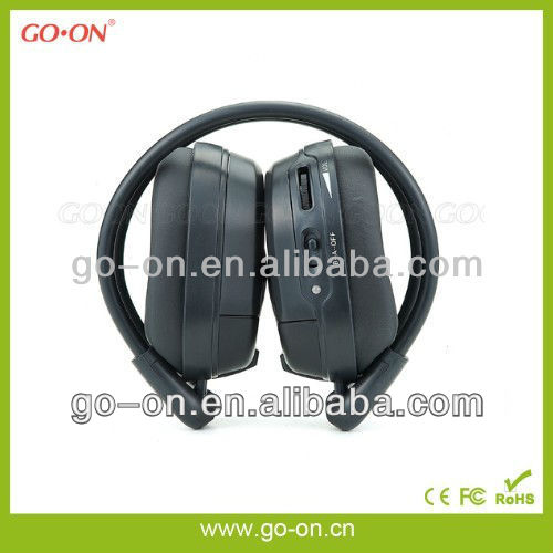 IR wireless headset compatible with all vehicle AV applications