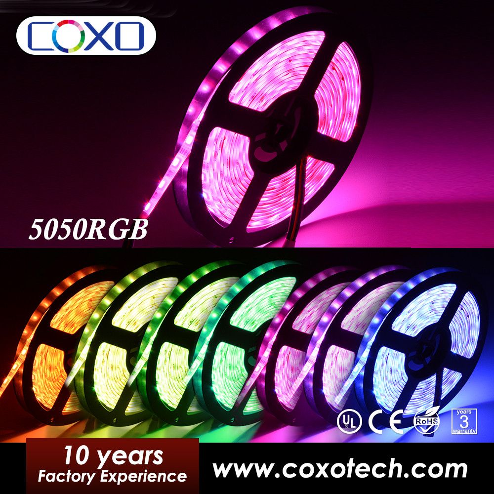 Silicone Coated IP68 Outdoor 5mm 10mm Width Addressable 5050 RGB Led Strip