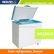 318L customized island freezer solar freezer 12v dc freezer compressor