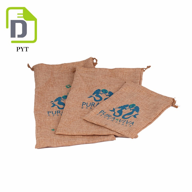 inexpensive customized design reusable jute coffee bag