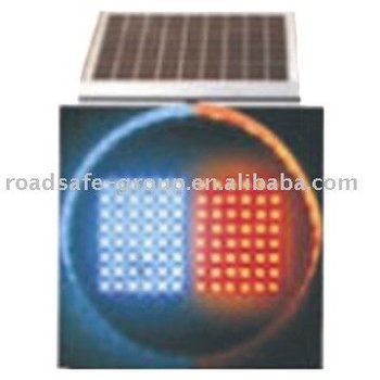 Solar Red/Blue Flashing Alerting Light