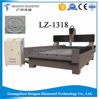 High Quality LZ-1318 Wood Stone Marble Granite Metal Advertising cnc router/stone carving machine