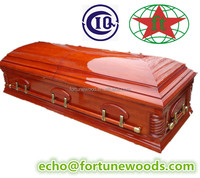solid paulownia wooden coffin
