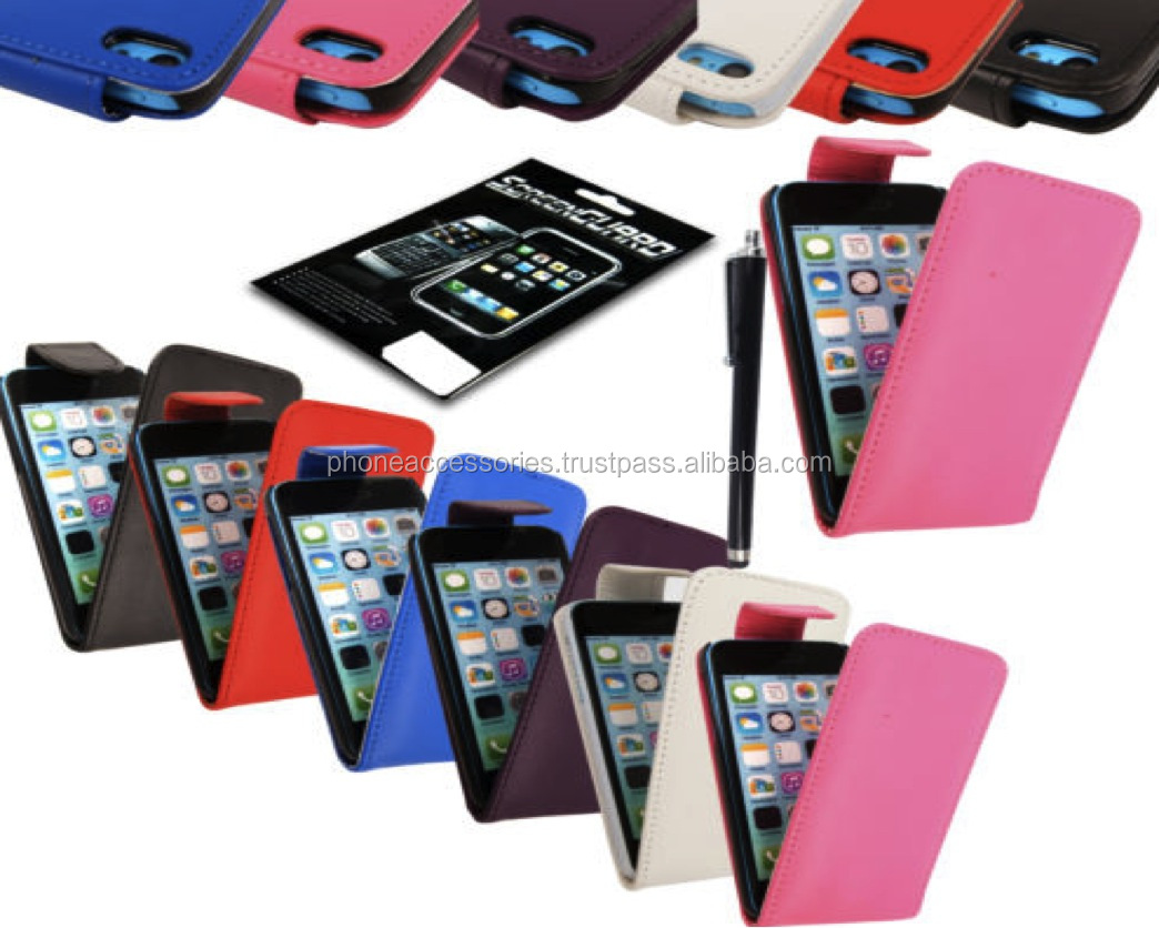 Genuine Colorful Leather Magnetic Flip Case Wallet Cover For Sony Ericsson Xperia, iPhone 6, iPhone 5 and iPhone 4 and for