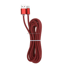 Super Speed 2.4A USB Cable Fast Charger Metal Nylon Weave Cable USB Type-c LED Universal Data Transfer Cable