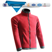 Fashion Red polar fleece jacket men trendy outdoor clothing