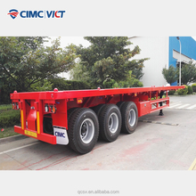 60ton flatbed semi trailer