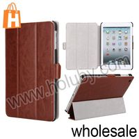 Elegant Crazy Horse Pattern 3 Fold Flip Stand Leather Case for iPadMini Four Colors
